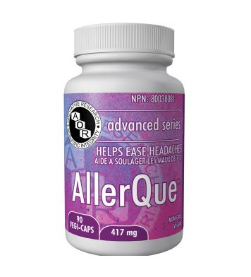 AllerQue allergy supplement, allergies, headaches, allergy relief, histamine