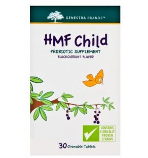 HMF Child, Genestra, supplement, probioitc, child probiotic, chewable probiotic, flavoured probiotic, gut health, digestive health