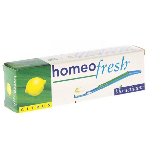 Homeofresh TP Citrus, homeopathic toothpaste, flavoured toothpaste, natural toothpaste, gum health, mouth health, gum inflammation, oral health