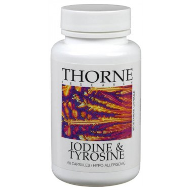 Iodine & Tyrosine, supplement, Thorne, thyroid health, thyroid support, thyroid