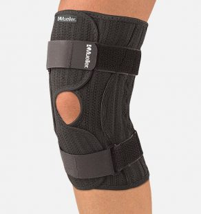 Mueller Elastic Knee Brace, knee compression, knee brace, knee support, knee swelling, knee pain, knee alignment,