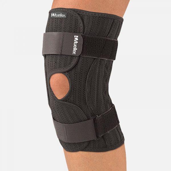 Mueller Elastic Knee Brace, knee compression, knee brace, knee support, knee swelling, knee pain, knee alignment,