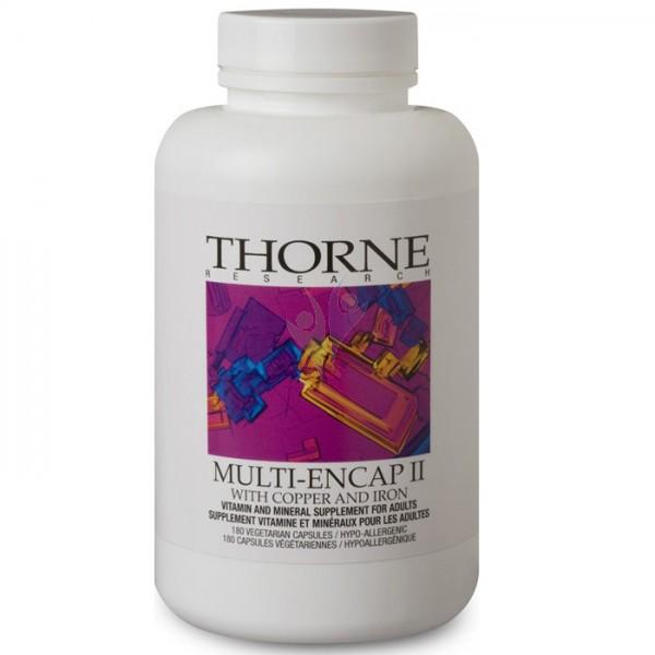 Multi-Encap II, Thorne, supplement, multi-vitamin, mineral supplement, minerals
