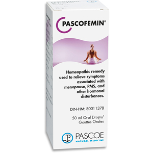PASCOFEMIN Drops, homeopathic remedy, supplement, hormone regulation, menopause, hot flashes, PMS, hormone inblance