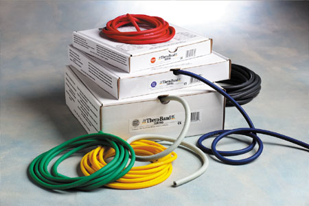 TheraBand Exercise Tubing, exercise tubing, tubing, stregthening and exercise, stregthening