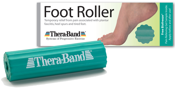 Foot Roller, Theraband Foot Roller, aches, pains, strains, foot care, plantar faciitis, anti-inflmmatory