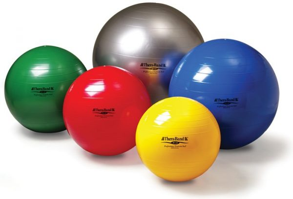 Theraband Exercise Ball, exercise ball, exercise and strengthening, back pain, posture