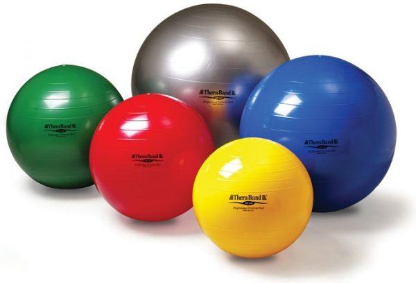 Theraband Exercise Ball, exercise ball, exercise and strengthening, back pain, posture