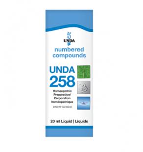 Unda #258, supplement, homeopathic remedy, liver support, liver detoxification, detoxification, liver health