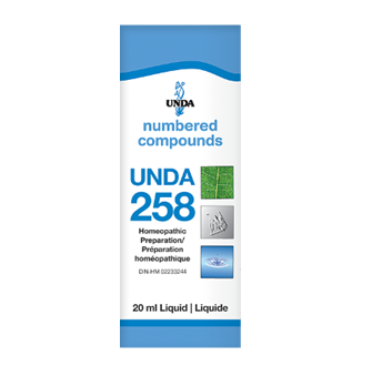 Unda #258, supplement, homeopathic remedy, liver support, liver detoxification, detoxification, liver health