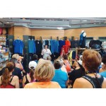 Keri-Lyn giving a talk at the Running Room on the importance of proper footwear!