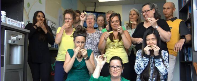 The Back to Health team takes the #LymeSucks Challenge!