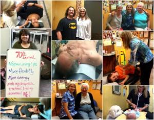 patient treatment collage