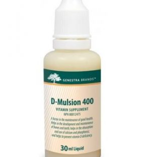 D-Mulsion, genestra, vitamin D, vitamin D3, liquid D, liquid D3, emulsified D, bone health, teeth health,