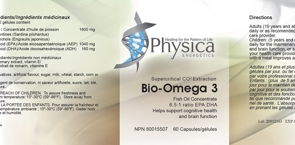 bio omega 3, fish oil, physica, epa, dha