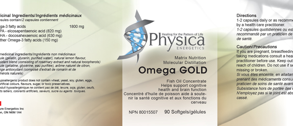 omega gold, physica, fish oil, supplement facts